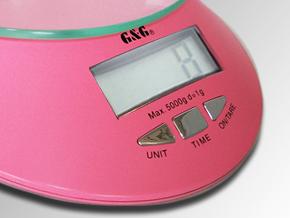 G/&G KE 5kg//1g  Küchenwaage Briefwaage  Digitalwaage Scale Pink