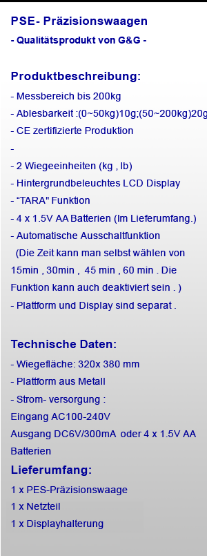 G&G PSE 200kg/10g Paketwaage Plattformwaage Digital-Waage | eBay